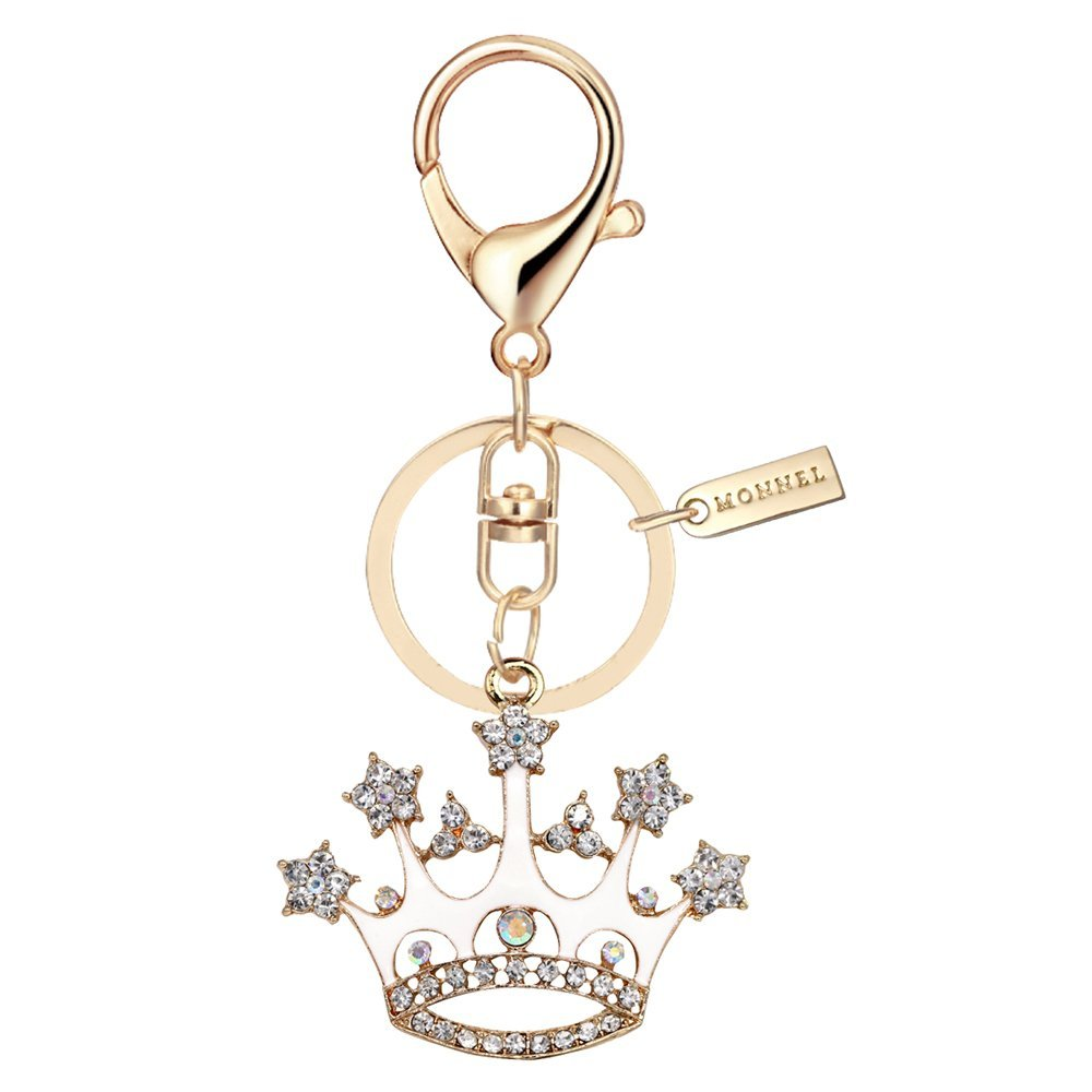 Bling Bling Crystal White Queen Crown Keychain Creative Packaging Design Box MZ857-1