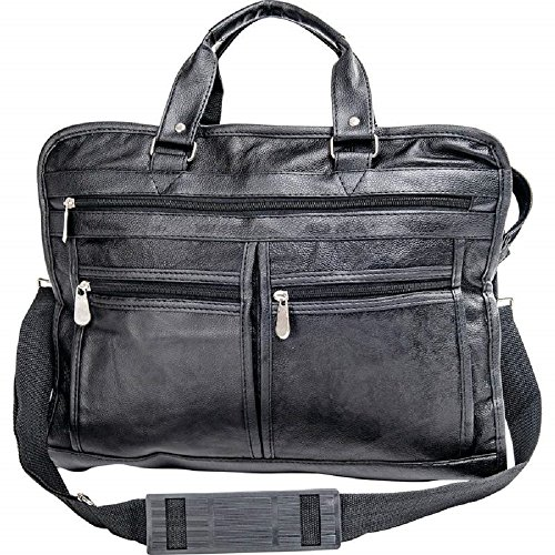 (Embassy Solid Genuine Leather Portfolio/Briefcase)