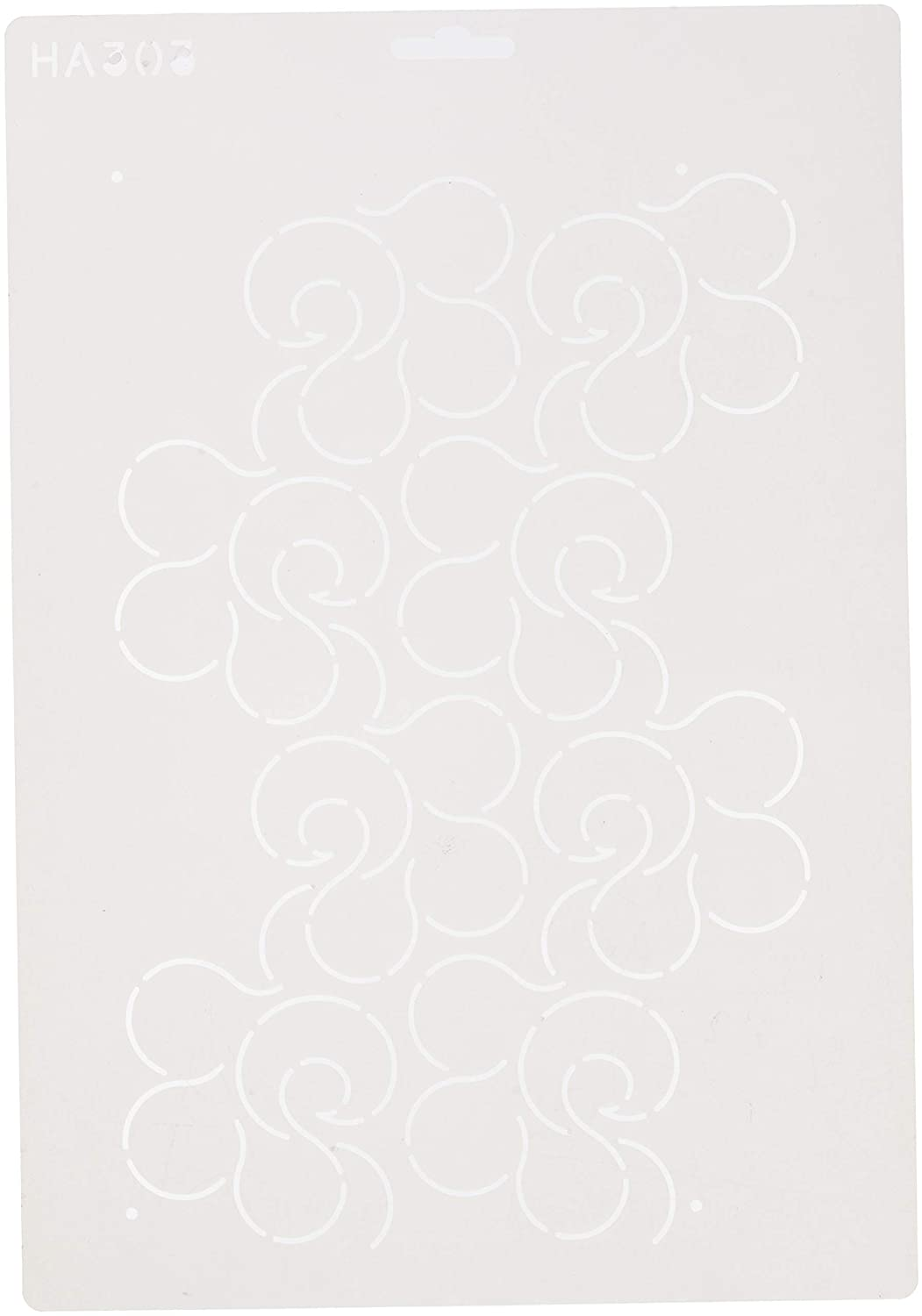 Quilting Creations HA303QC Whimsy Overall Stencil, None
