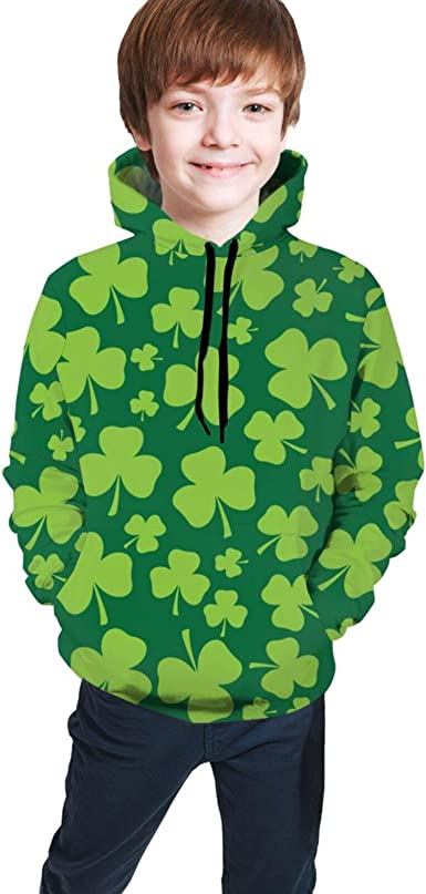 Amazon.com: Kids Hoodies, St. Patrick's Day Clovers 3D Hoodies for Kids  Boys Girls Active: Clothing