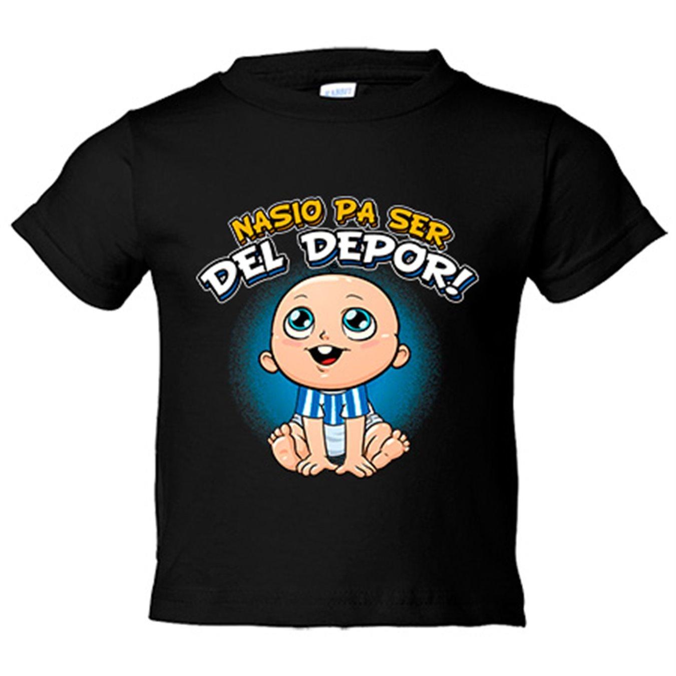 Camiseta niño nacido para ser del Depor Coruña fútbol - Azul Royal, 3-4 años: Amazon.es: Bebé