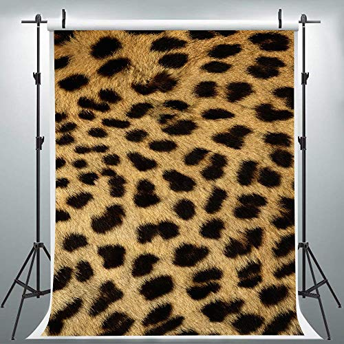 Leopard Pattern Photography Backdrop for Party, 6x9FT, Leopard Print Stylish Background, Photo Booth Studio Props ()