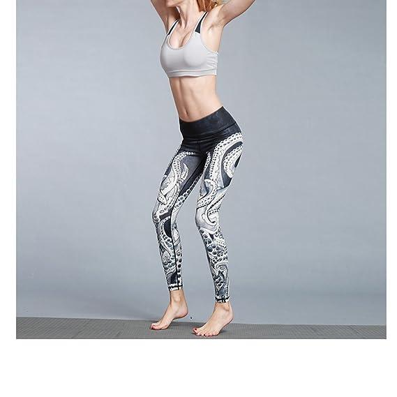 2090f998ba10b Amazon.com: Befullo Women's Yoga Pants Capri Legging Workout Gym Tights  (XL, Octopus): Clothing