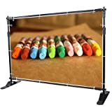 Yescom 8' Step and Repeat Display Backdrop Banner Stand Adjustable Telescopic Trade Show Wall Exhibitor
