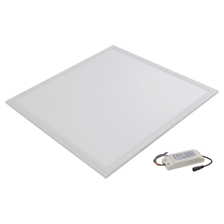 Illuminazione LED panel 60x60 quadrata ultrasottile 40W bianco naturale da 4000 a 4500 kelvin. Profilo in alluminio stampato bianco con sfumatura opaca bianca. 30000 ore di vita e 3 anni di garanzia. [Classe di efficienza energetica A] LEDUS