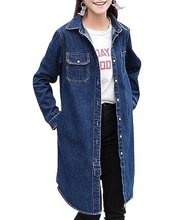 Veste longue en jeans pour femme
