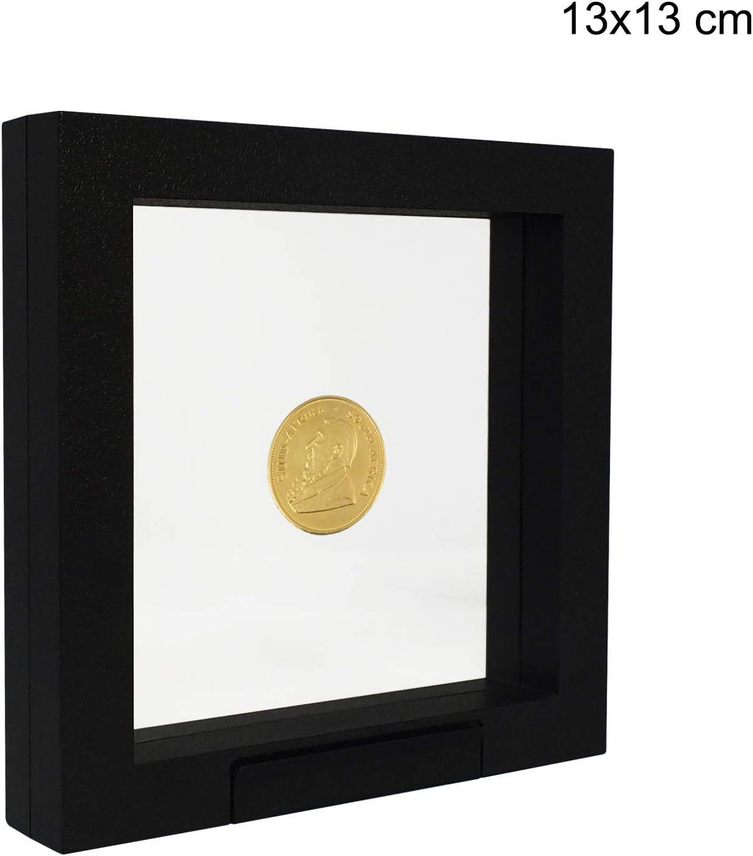 cadre 3D noir pour vos pi/èces de collection SAFE 4502 Cadre flottant 3D noir 13x13 cm cadre pour objet cadre pour pi/èce