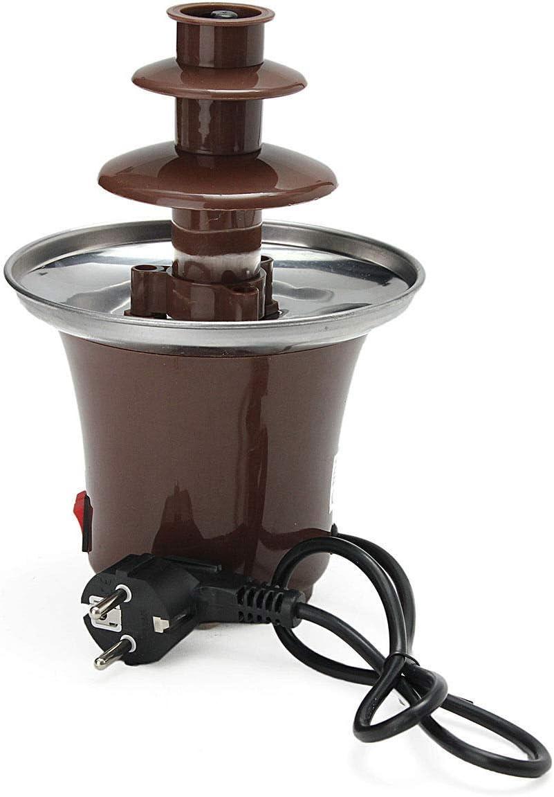 Chocolate Fountain Machine Fondue Maker Heated 3-Tier Home Household Party