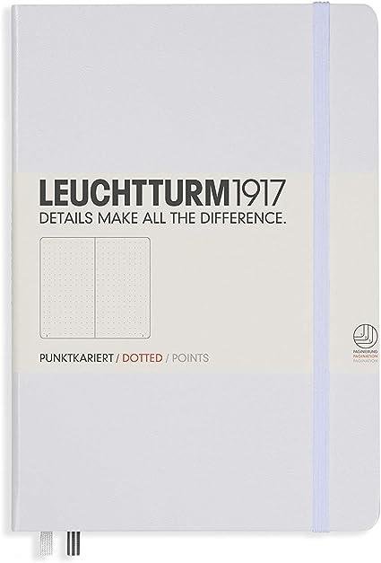 Leuchtturm 1917 taccuino copertina rigida A5 249 pagine A puntini Dotted nero