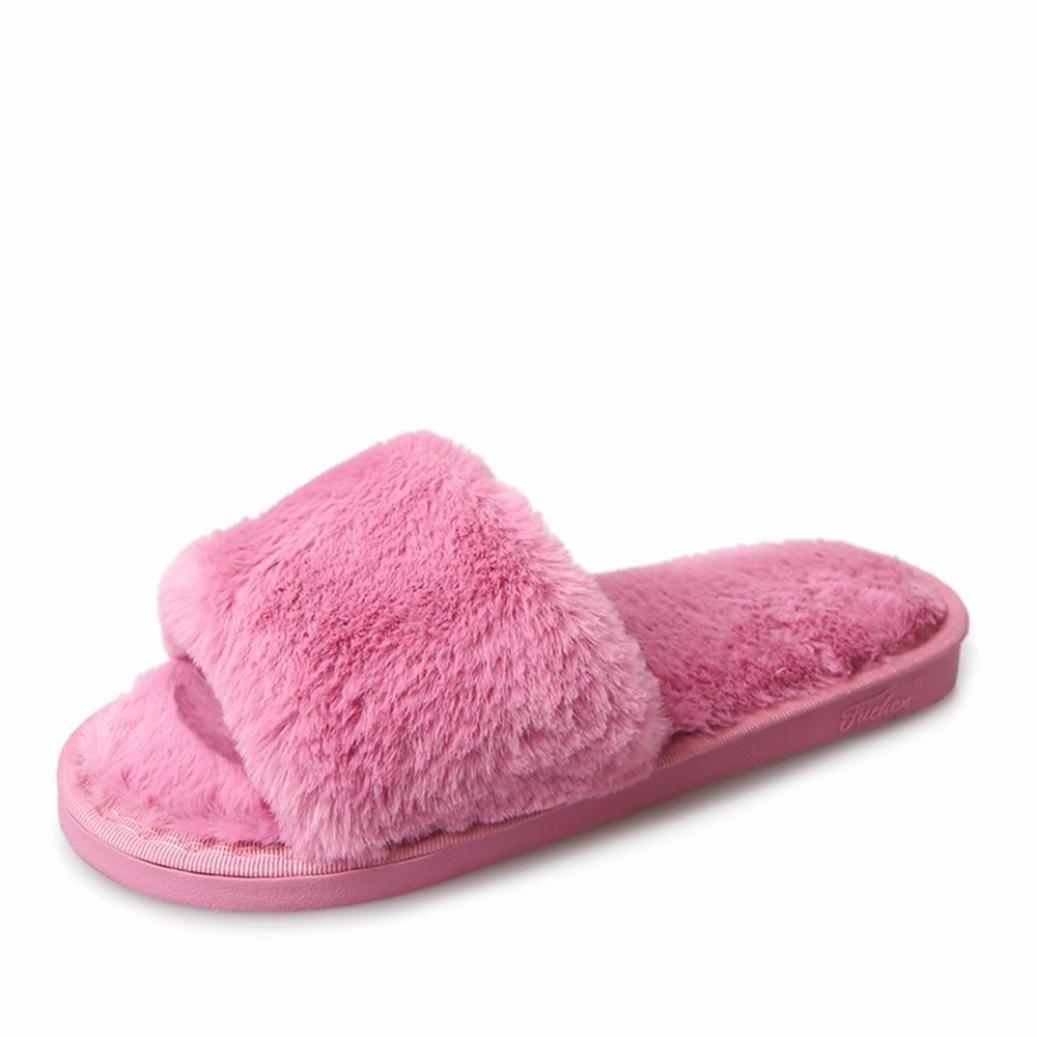 Rawdah Femme Chaussures Hiver Faux B000LEQMF2 Fourrure Flat Slipper Flip Flip 19995 Flop Sandal Claquette Rose vif 04c4b7c - epictionpvp.space