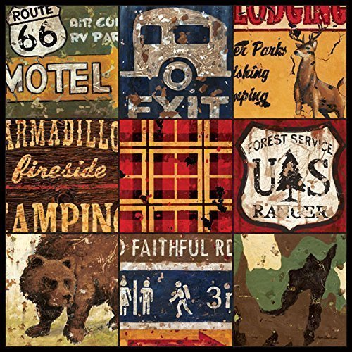 American Adventure - Lodge Camping Collage Wall Art