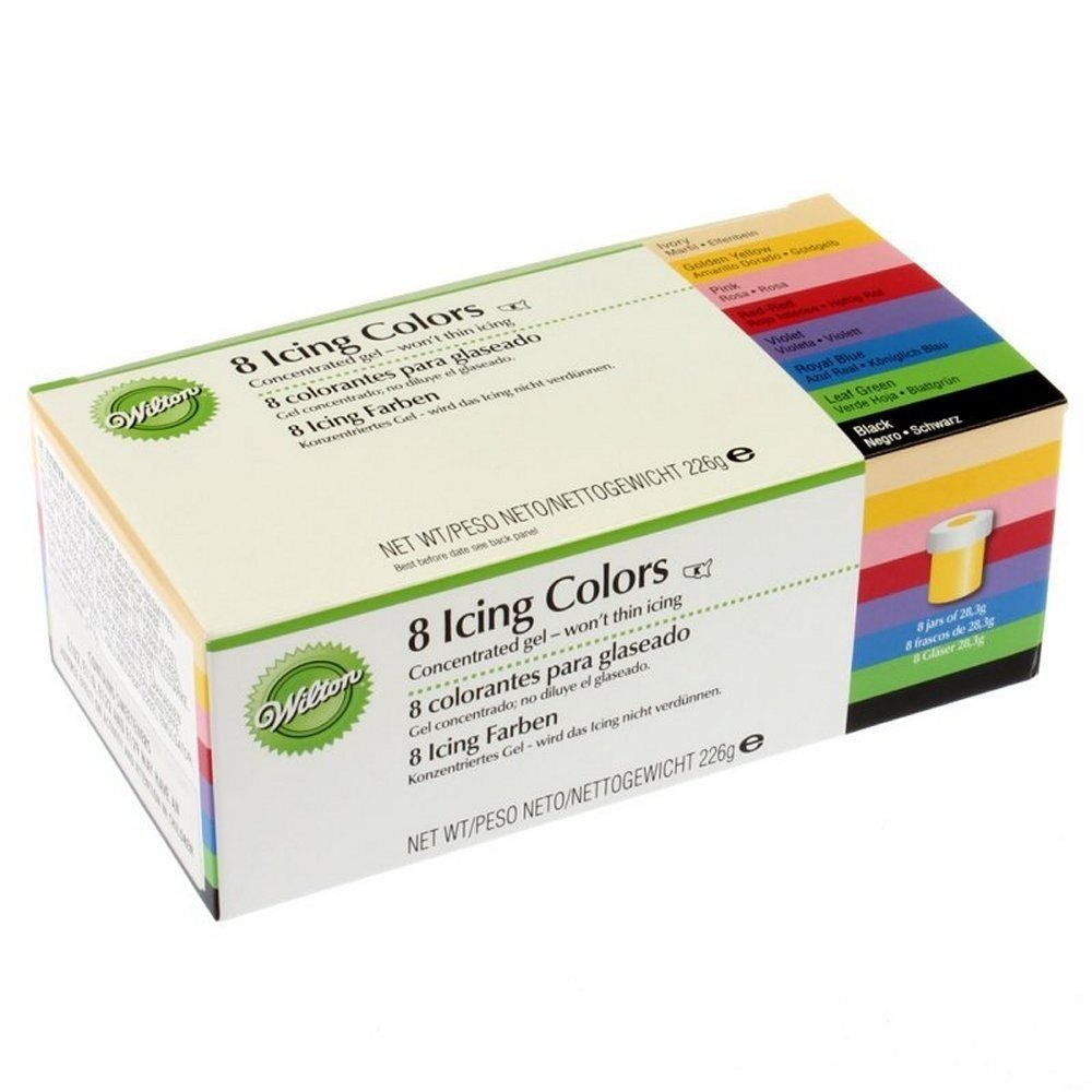 wilton eu kit 8 colorantes glaseado 224 gr amazon es