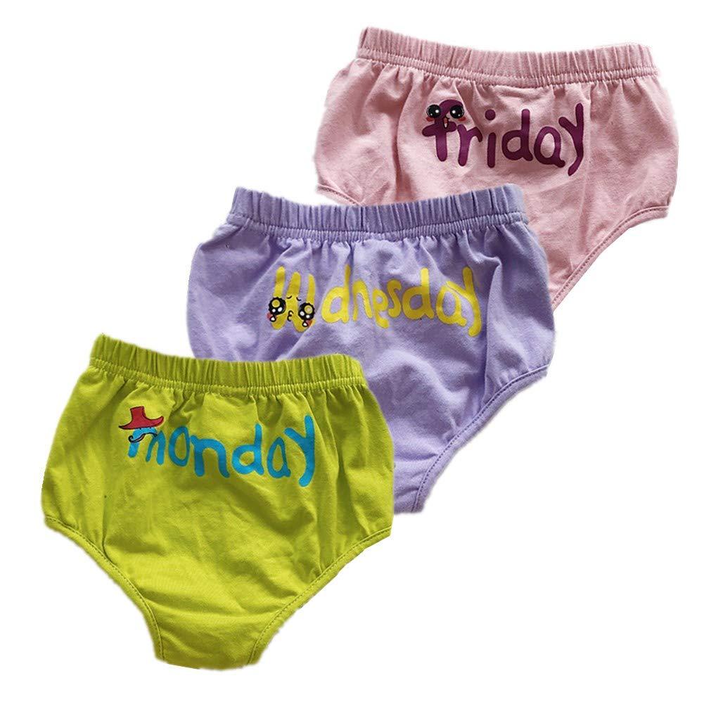 JIEYA Baby Toddlers 7-Pack Underwear Set, Days of The Week,Training Pants Underpants Diaper Covers Baby-pants-110