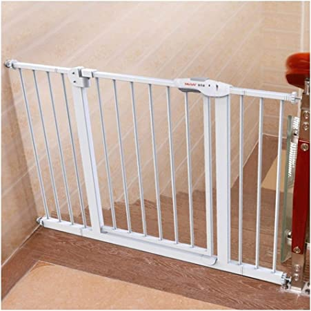 Puerta De Bebé Puerta De Seguridad For Bebés For Escaleras Aislamiento Niños Mascota Perro Valla Barandilla Chimenea Parrilla Extensible Protección De Cocina Montaje De Presión De Metal: Amazon.es: Hogar