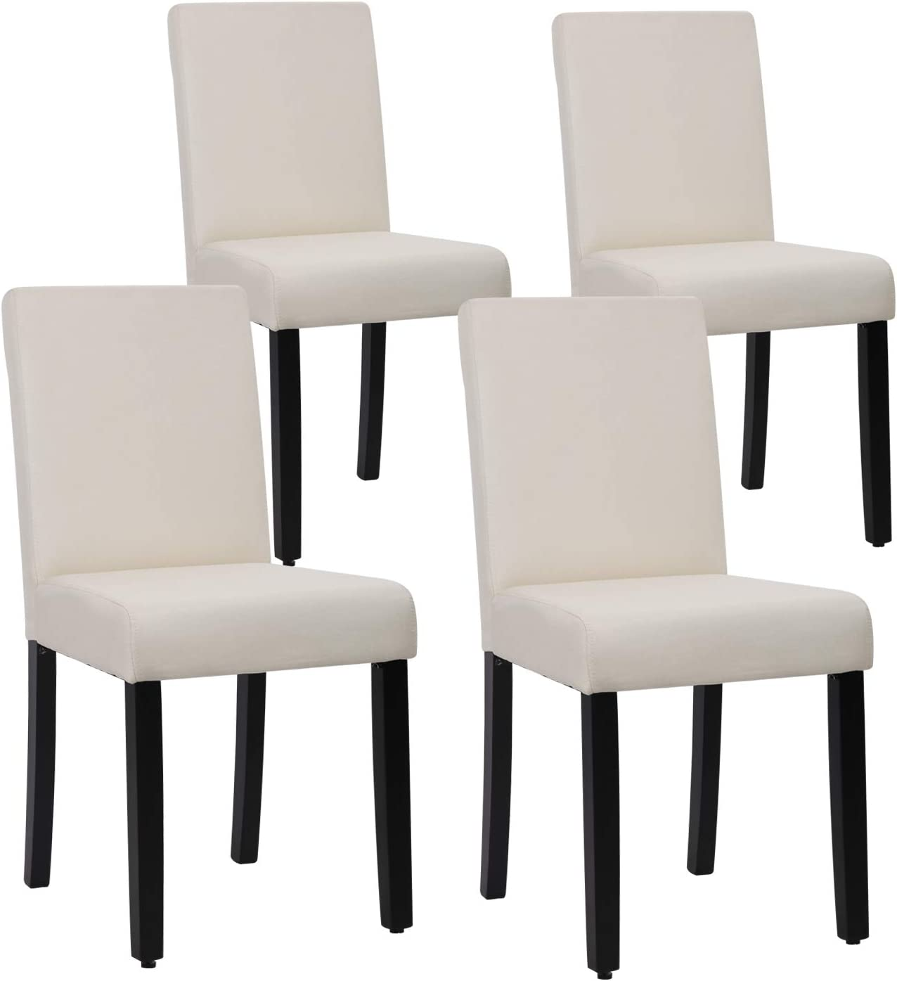 Dining Chairs Set of 4 Elegant Design Modern Fabric Upholstered Dining Chairs