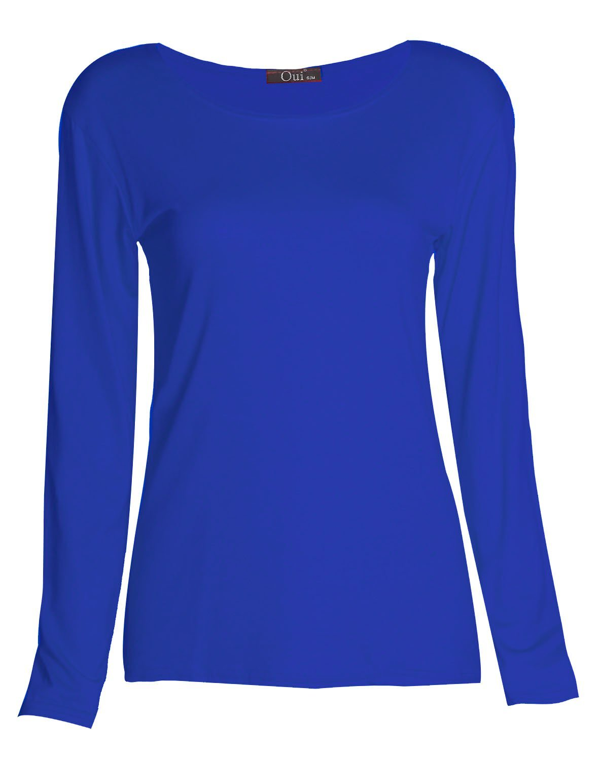 Forever Girls Plain Long Sleeves Scoope Neck Stretchy T-shirt Top