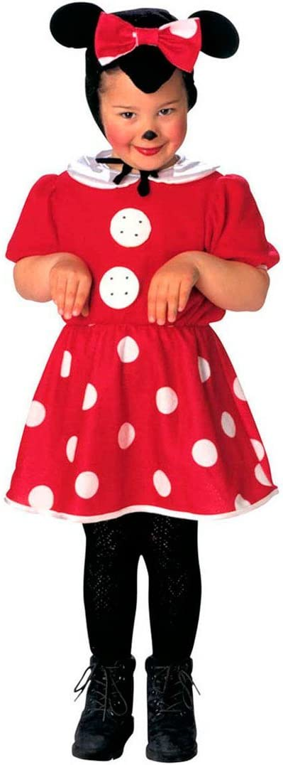 NET TOYS Disfraz Infantil ratón Minnie Mouse Vestido niña roedor ...