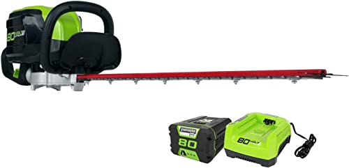 Greenworks PRO 26-Inch 80V Cordless Hedge Trimmer, 2.0 AH Battery Included GHT80321
