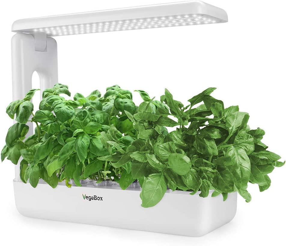 Hydroponics Growing System,Support Indoor Grow,herb Garden kit Indoor, Grow Smart for Plant, Built Your Indoor Garden (Large-White)