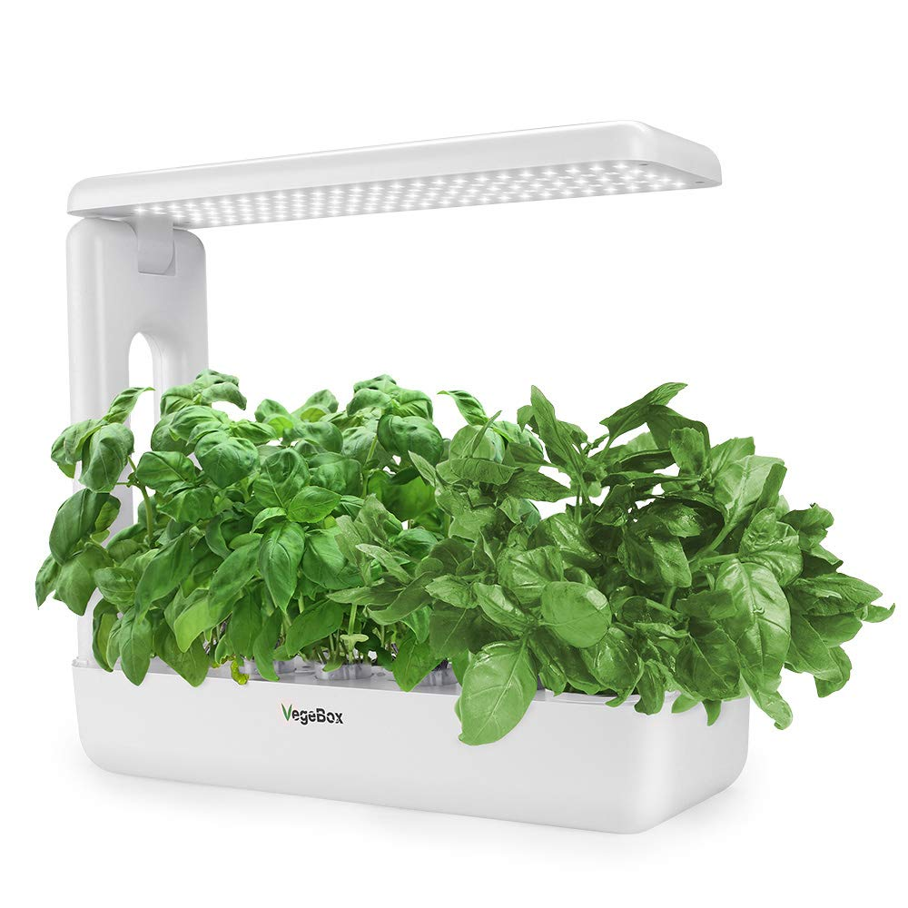 Hydroponics Growing System,Support Indoor Grow,herb Garden kit Indoor, Grow Smart for Plant, Built Your Indoor Garden (Large-White)