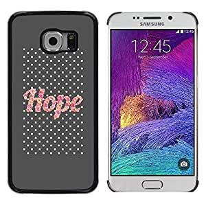 LASTONE PHONE CASE / Slim Protector Hard Shell Cover Case for Samsung Galaxy S6 EDGE SM-G925 / Glitter Gray Text Motivational
