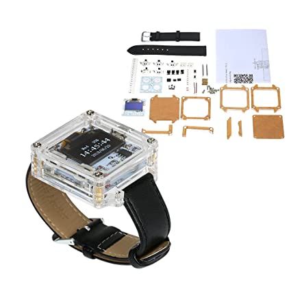 Amazon.com: KKmoon SCM Awesome Transparent LED Watch DIY LED Digital Tube Wristwatch Electronic Watch DIY Kit: Home Improvement