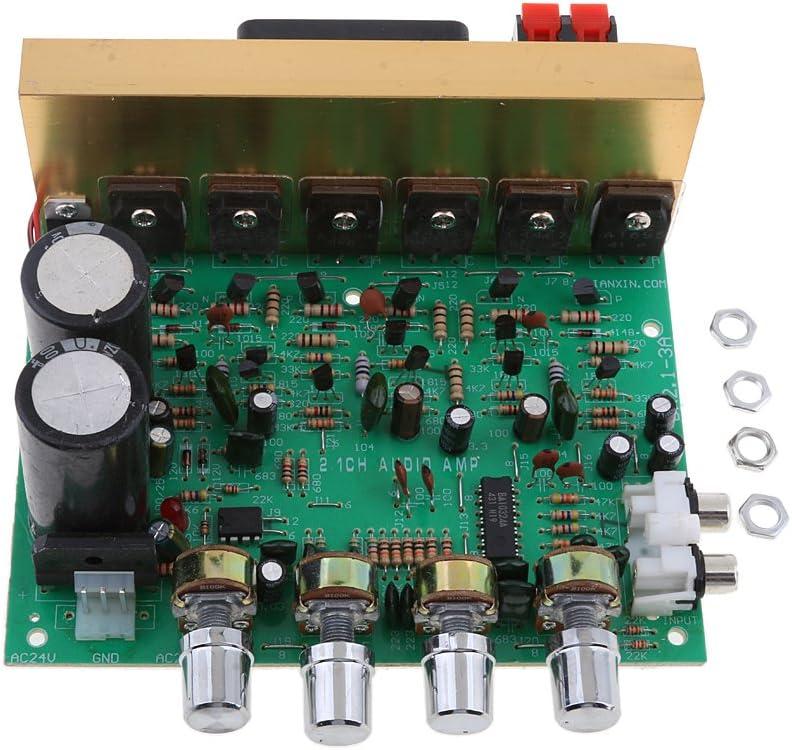 perfk 200W 2.1 Canal Subwoofer Placa de Amplificador de Audio de Alta Potencia DIY Módulos de Audio