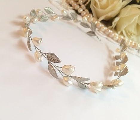 Pearl Floral Wedding Vine Bridal Crown Headband