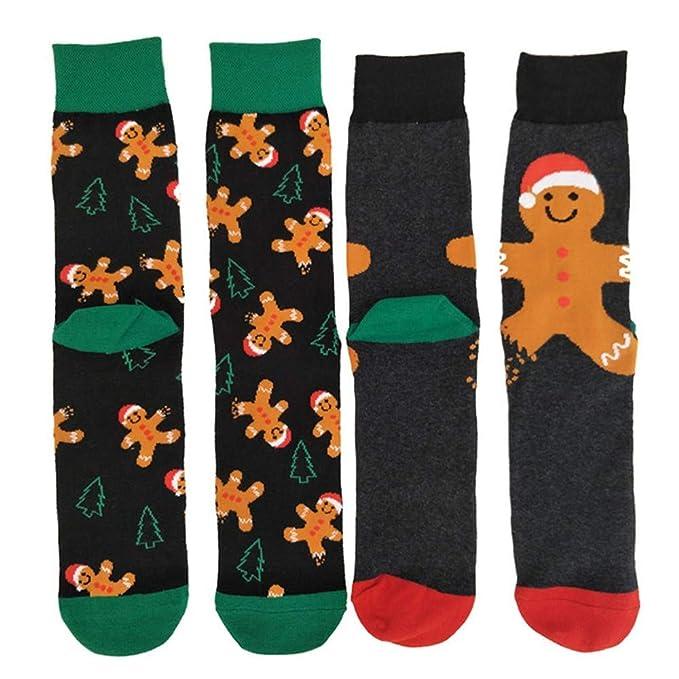Hyf Socks 2 Pares Hombres Mujeres Calcetines De Navidad Personaje De Dibujos Animados Otoño Invierno Algodón Calcetín Regalos De Navidad Medias Calcetines ...