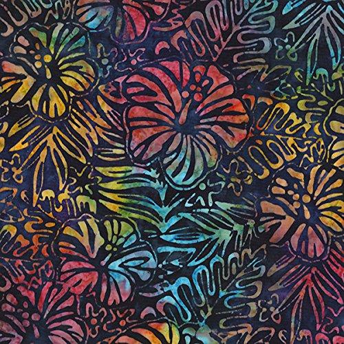 - Robert Kaufman 0370550 Artisan Batiks Totally Ferns & Flowers Fabric by The Yard, Tropical