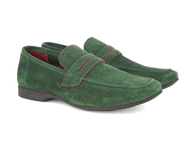 27283f89b2ac ALBERTO TORRESI Leather Domenico Green Casual Shoes for Men  Amazon.ca   Shoes   Handbags