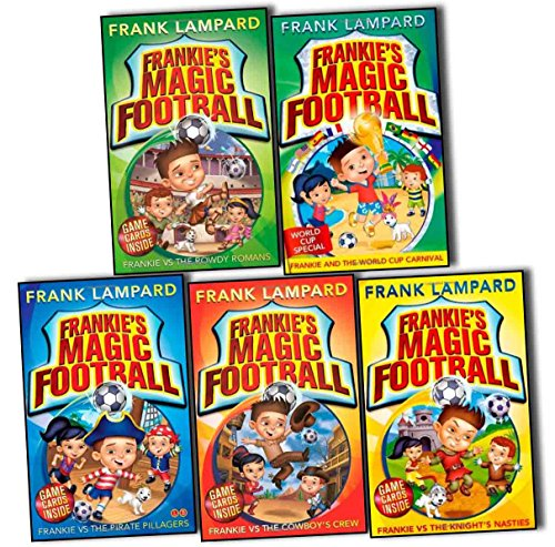 Frankie's Magic Football Frank Lampard 5 Books Collection Pack Set (Frankie and the World Cup Carnival, Frankie vs The Knight''s Nasties, Frankie vs The Cowboy''s Crew, Frankie vs The Rowdy Romans, Frankie vs The Pirate Pillagers)
