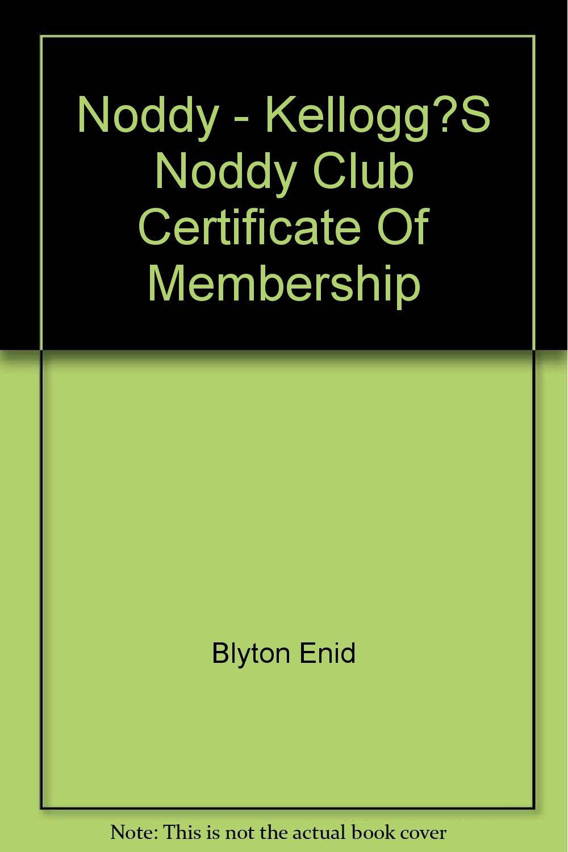 Noddy Kelloggs Noddy Club Certificate Of Membership Amazon