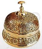 Ornate Hotel Counter Desk Bell Vintage Engraved Service Call Bell Decor 6' Decor