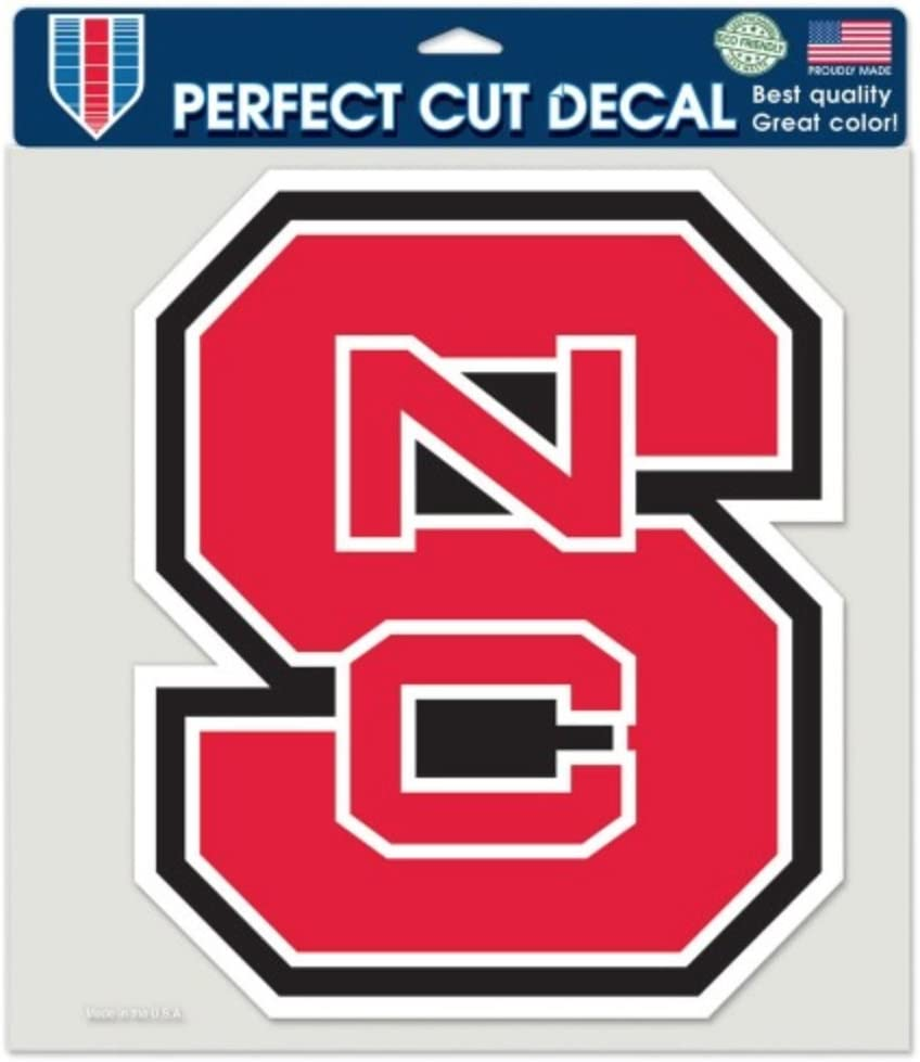 NCAA North Carolina State University Wolfpack 8 x 8 inch Perfect Cut Decal