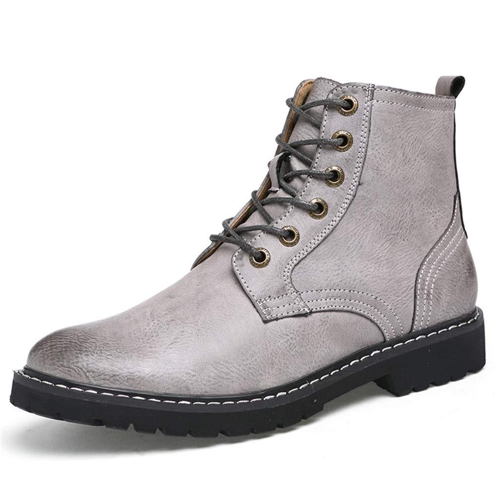 Herren Lederstiefel, Herbst Winter Erhöhen Sie Sie Sie die Höhe der Stiefel Martin Stiefel Große Größe Outdoor-Tools High-Top Plus Samt Outdoor Wanderschuhe XUE (Farbe   B, Größe   42) 3187c6