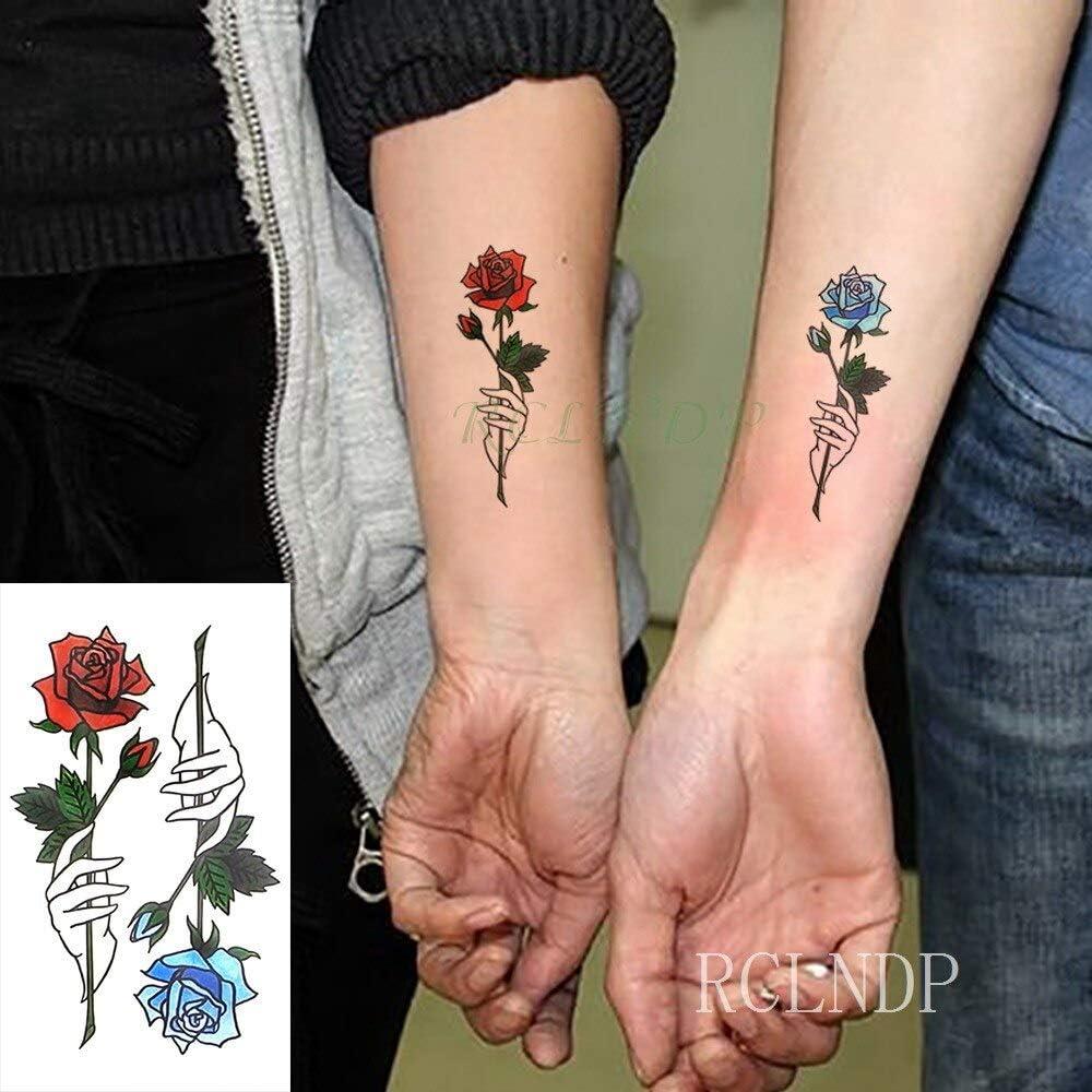 tzxdbh Pegatinas para Tatuajes temporales a Prueba de Agua Flor ...