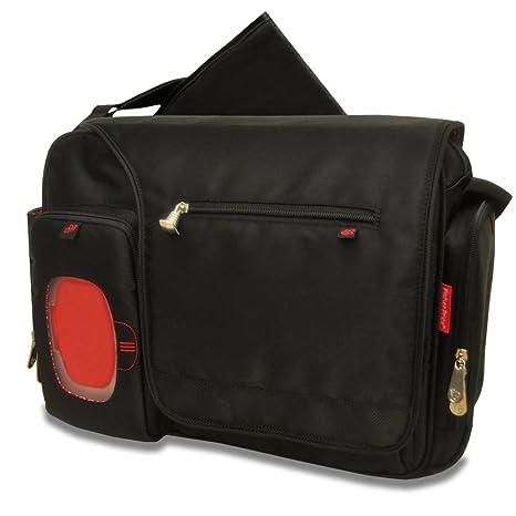 Fisher-Price fastfinder Deluxe Messenger bolsa de pañales, Negro