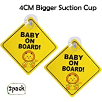 mybabyonboard UK Little Princess Baby//Child on Board Sign for Car 2pcs Kids Safety Warning Twin Pack with Suction Cups