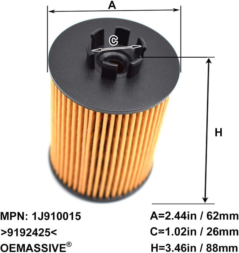 Corsavan MK II 2000-03 3Pcs Oil Filter 9192425 For Agila A H00 2000-07 Meriva 2004-10 Corsa B 1996-00