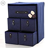 RUNMIND Space Clothes Storage Box Moisture-Proof Organizers Foldable Home Organizer 1 Set Blue