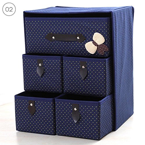 RUNMIND Space Clothes Storage Box Moisture-Proof Organizers Foldable Home Organizer 1 Set Blue by RUNMIND (Image #1)