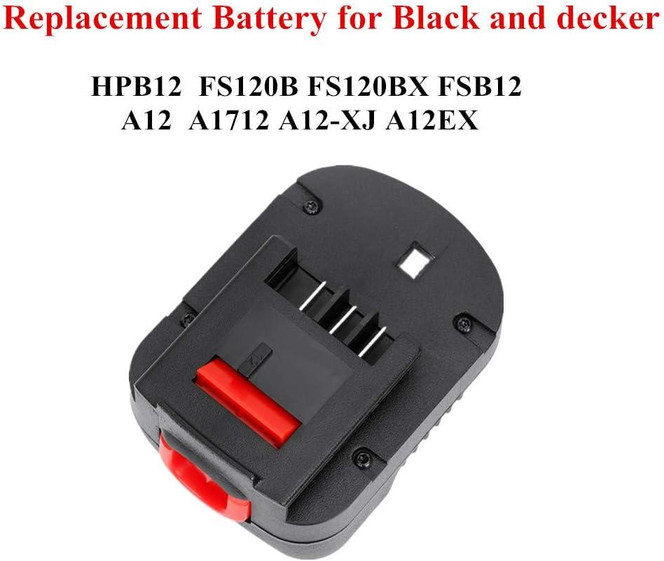 POWERGIANT 12V 3.0Ah NIMH Batterie pour Black /& Decker A12E A12 A12-XJ A12EX A1712 HPB12 FS120B FSB12 FS120B FS120BX