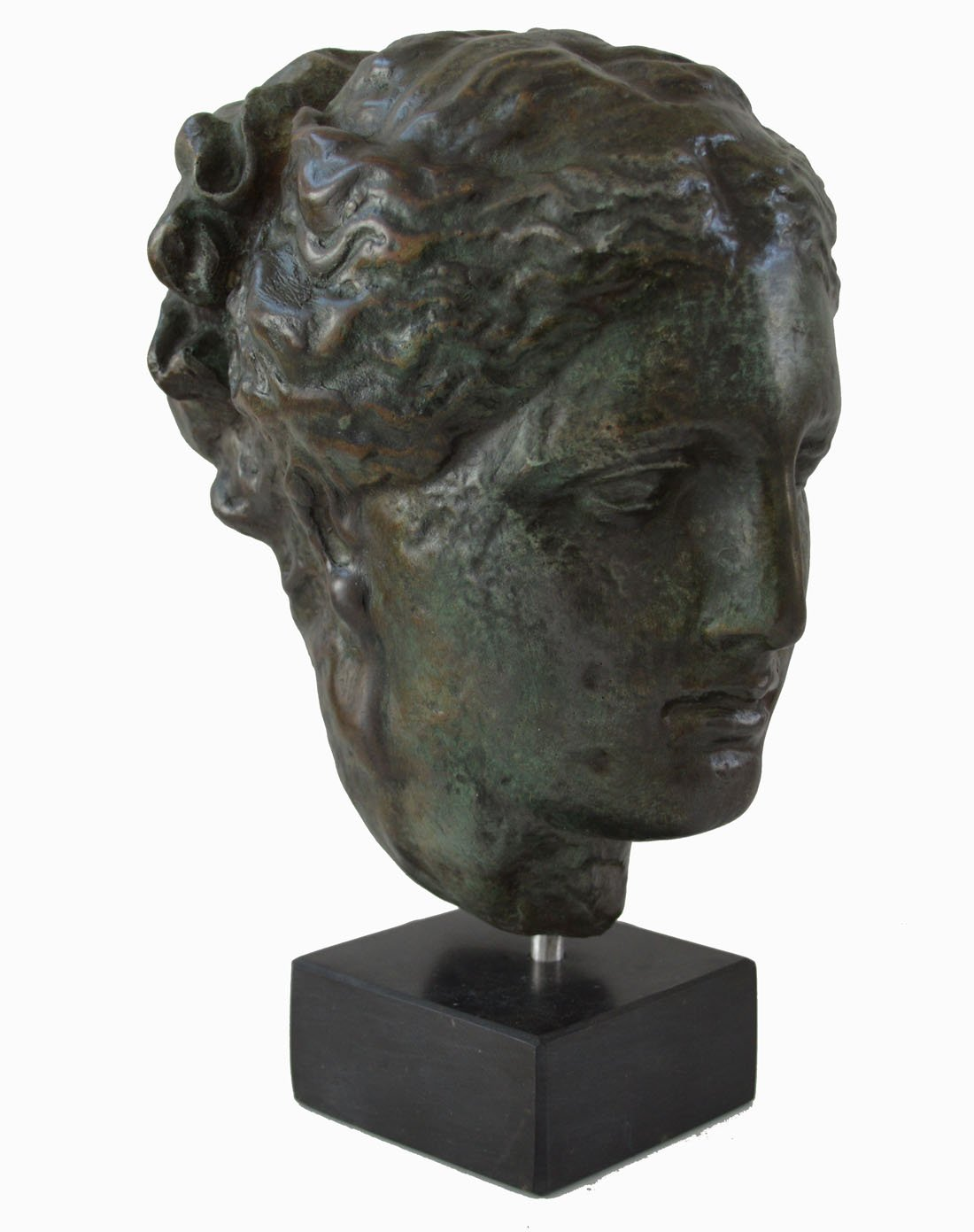 Hygieia bust with bronze color effect - Ancient Greek Goddess of health Hygeia - museum replica by Estia Creations (Image #2)
