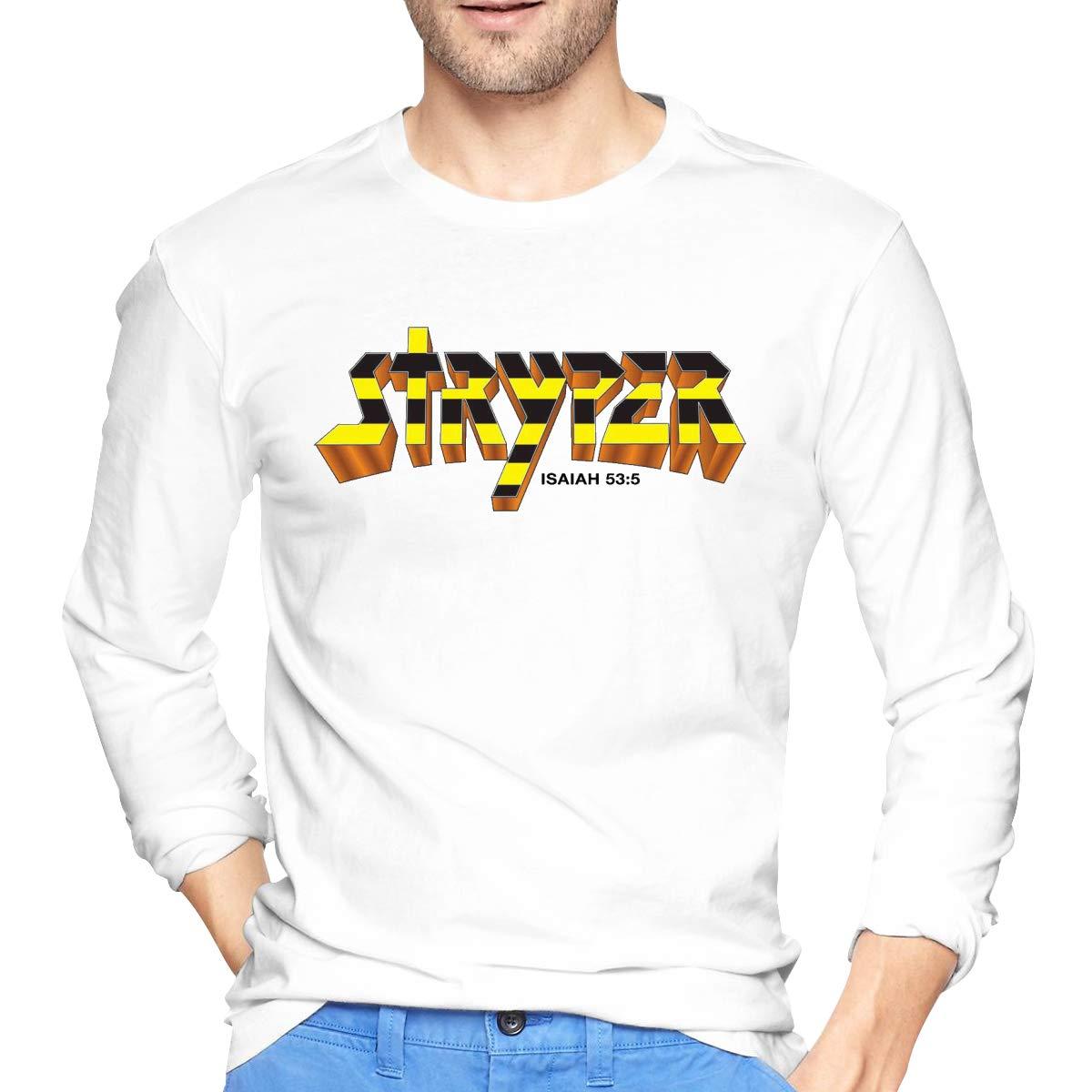 Lihehen Man Stryper Simple Casual Round Neck Shirt