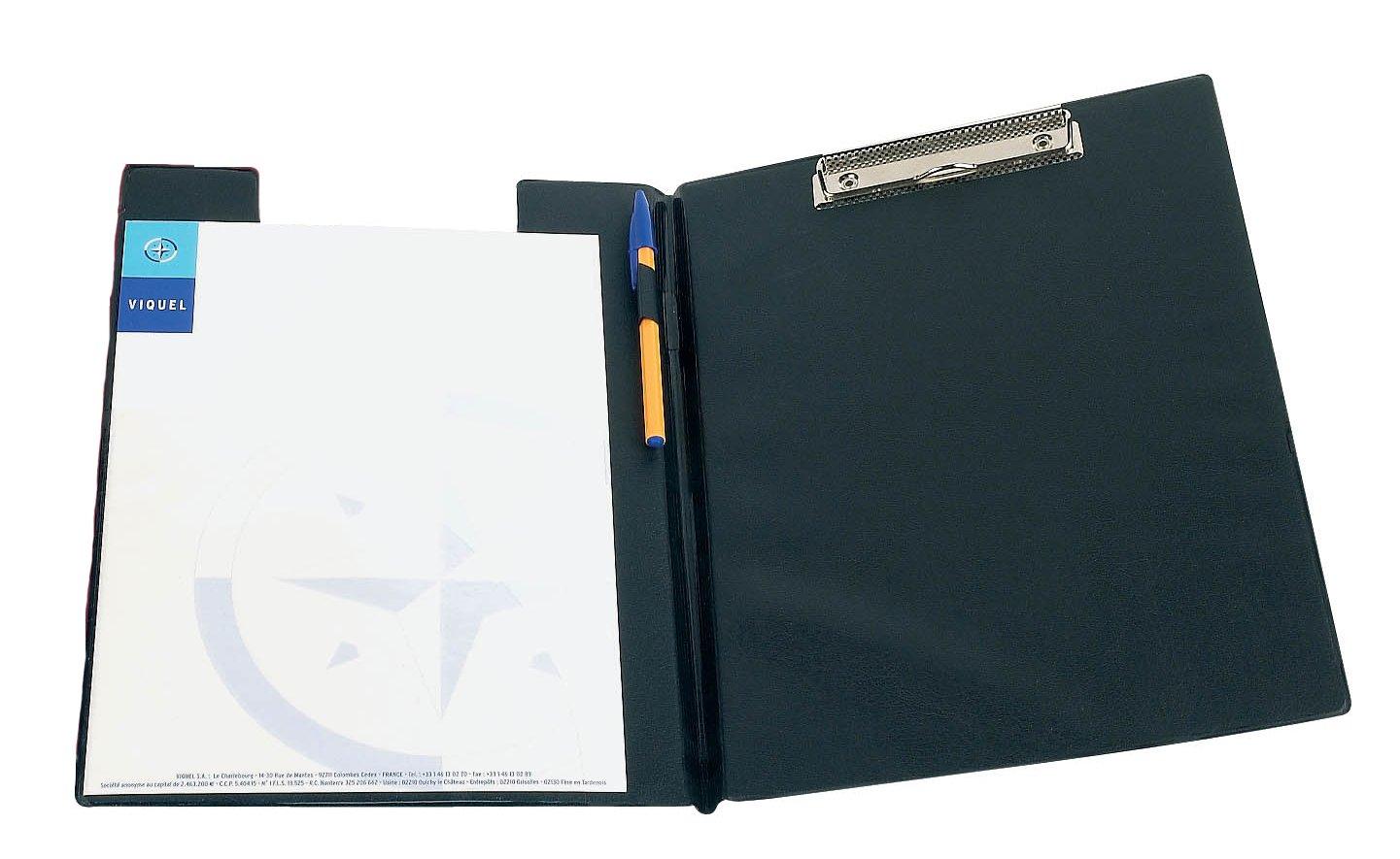 Viquel Reach Porte Bloc /à pince en PVC A4 Noir