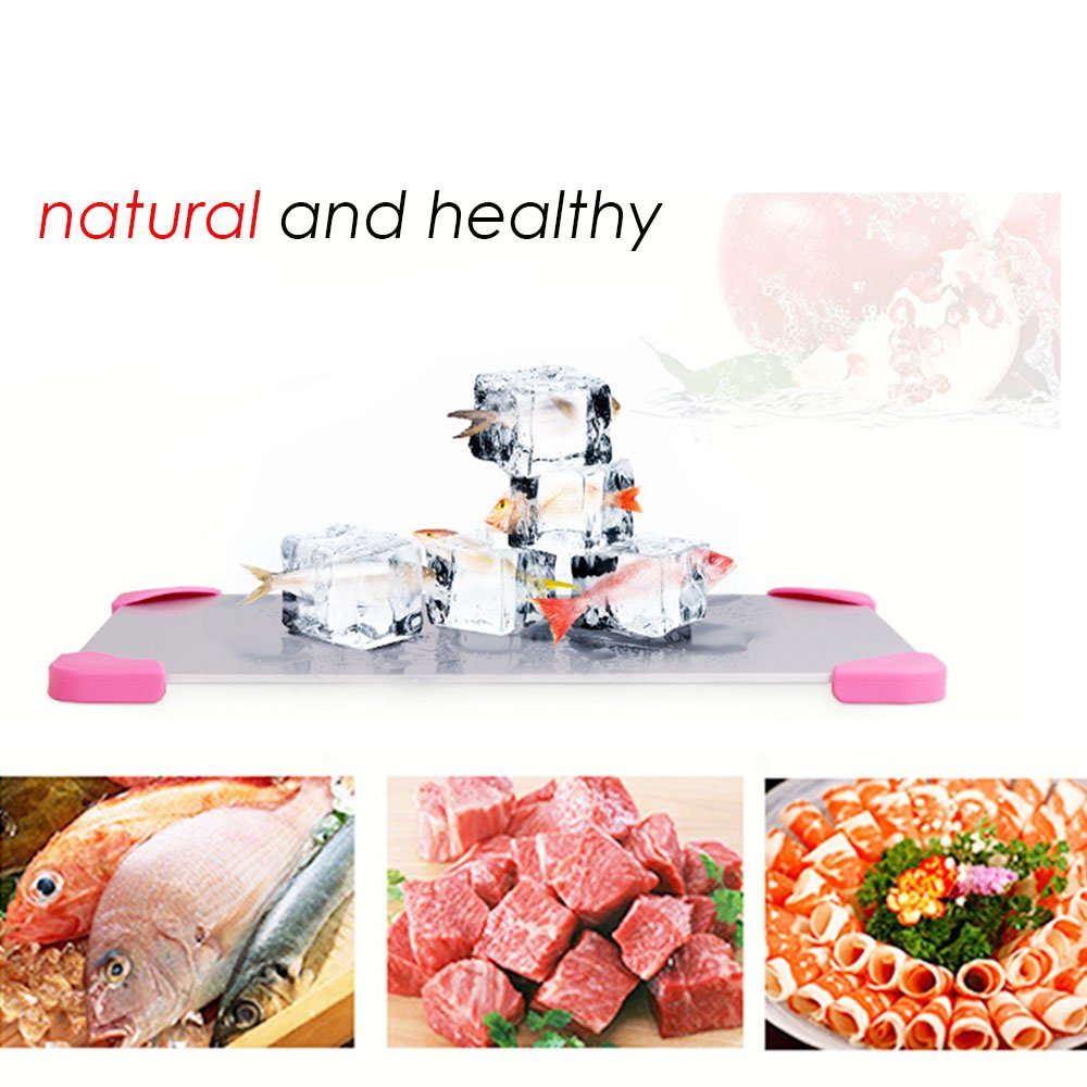 Kangkang@ Household Kitchen Repid Thaw Plate Fast Frozen Food Thawing Board Plate Defrost Tray For Meat Fish Beef Chicken Kitchen Gadgets by Kangkang (Image #2)