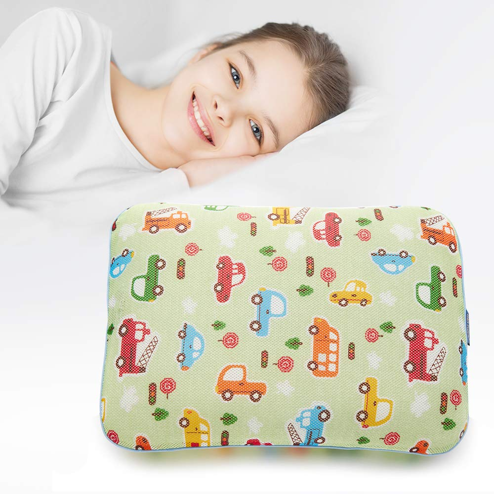 Gio Pillow 3D Air Mesh Baby Pillow, Head Shaping Pillow, Flat Head Syndrome Prevention [Baby Car/Large]