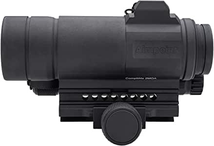 Aimpoint CompM4s Red Dot Reflex Sight with QRP2 Mount, Spacer, Rubber Bikini Lens Covers - 2 MOA - 12172