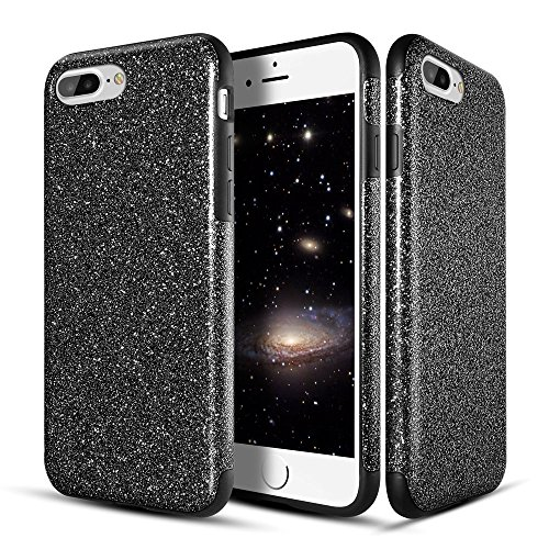 iphone-7-plus-case-roybens-shockproof-jet-black-bling-glitter-thin-fit-cover-hybrid-tpu-leather-non-